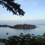 view of shack island from b&b
