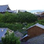 Templo Higashi-Honganji vista desde puerta apartamento