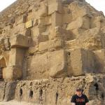 Sitting on the largest pyramid, Cheops Pyramid.