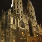 Stephansdom at night.