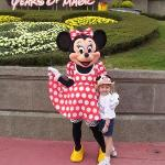 Disney World 2002 -Mary with Minnie Mouse