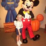 Disney World 2002-Mary with Mickey Mouse