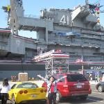 USS Midway Aircraft Carrier on July 4th