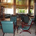Lounge area outside restaurant