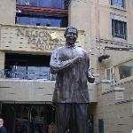Nelson Mandela Square outside Michelangelo Tower