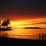 Tanjung Aru Beach Sunset