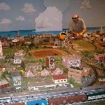 Model train exhibit