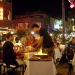 restaurant & street