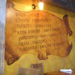 Some Irish translations on the wall