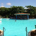 This pool was the hub of the animacion activities