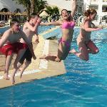fun in the pool. Splash down!