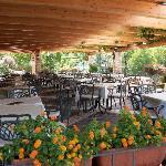 ristorante con terrazza panoramica