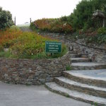 The steps up to the car park.