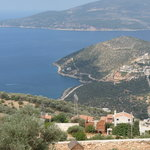 view of Kalkan bay from the lemon tree apatments.