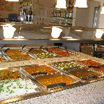 A wide variety of Indian food on the Lunch Buffet at Delhi Palace, Cuisine of India