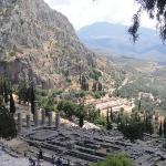 Apollo's temple in the mountains in Dephi GR. I didn't realize this, but Greece is mostly mounta