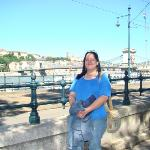 By the Chain Bridge in Budapest