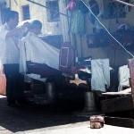 Coiffeur de rue, Chinatown, Kuala Lumpur, Malaisie