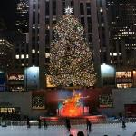Christmas tree at Rockefeller Plaza.