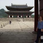 inside Gyeongbokgung Palace, about to walk along the King's walkway