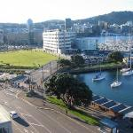 View from our room, looking down on Te Papa