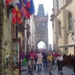 Entrance to Charles Bridge, Prague, Czech Republic