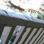 Gaurdrail on balcony