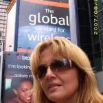 Kimmie in Times Square.
