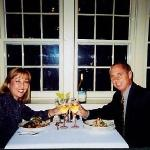 Our anniversary in Mystic, CT - October 11, 1999.