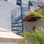 stairs to upstairs terrace