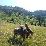 On the trail ride