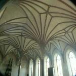 The vaults in the Great Refectory