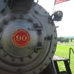 Up close to the locomotive