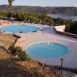 vue piscine depuis notre chambre