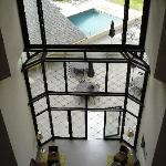 Hotel lobby, vew from the second floor