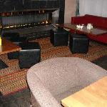 Uno scorcio del bar all'interno dell'hotel