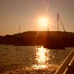 Sunset over Skiathos port