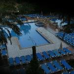 The pool at sun up