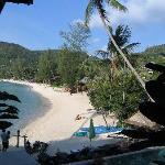 accès piscine et plage
