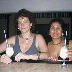 Enjoying Ocean Spa's great Pina Coladas