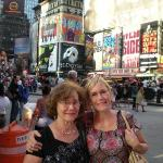Mom and me in Times Square