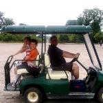 The only way to travel around Versailles gardens