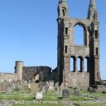 at the St Andrews Cathedral ruins, St Andrews