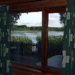 What a view to wake up to! - looking across the Lough from the bedroom in Lodge 5