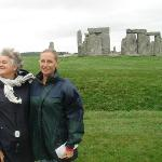 Jean and Mina at Stonehenge