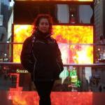 A fuego en TiImes Square.