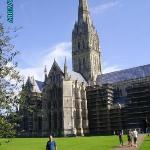 Steve at the Salisbury Cathedral.  This is one of the tallest cathedral spires in England.  The