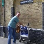 Platform 9 3/4 at Kings' Cross station, London.