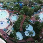 View of the pools from our room