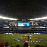 Roger Centre for the World Baseball Classic game 1 (USA vs Canada)  in Toronto, Canada.  We sat